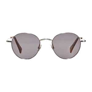 Silver Rhodium Gradient Grey Sunglasses