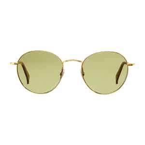 Gold Vicuna Bottle Green Lens Sunglasses
