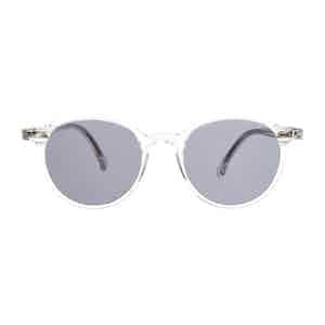 Neutral Classic Acetate Gradient Grey Lens Sunglasses