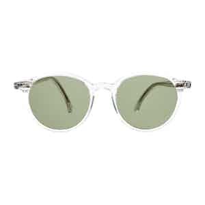 Neutral Classic Acetate Bottle Green Lens Sunglasses