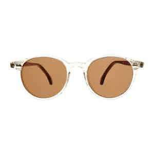 Neutral Classic Acetate Tobacco Lens Sunglasses