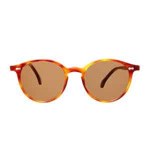 Classic Tortoiseshell Acetate Tobacco Lens Sunglasses