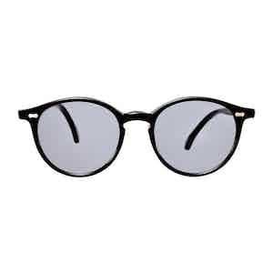 Black Acetate Gradient Grey Lens Sunglasses
