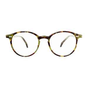 Green Tortoiseshell Acetate Optical Glasses