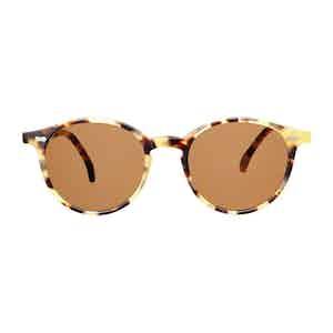 Light Tortoishell Acetate Tobacco Lens Sunglasses