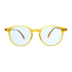 Honey Acetate Blue Lens Sunglasses