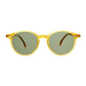 Honey Acetate Bottle Green Lens Sunglasses
