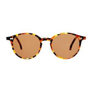 Brown Tortoiseshell Acetate Tobacco Lens Sunglasses