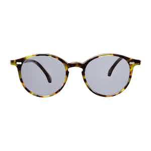 Green Tortoiseshell Acetate Gradient Grey Lens Sunglasses