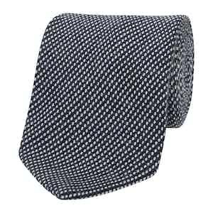 Mid-Grey Textured Tie