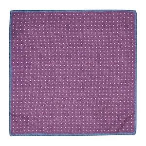 Purple Silk Polka Dot Pocket Square