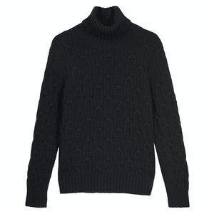 Black Wool and Cashmere Rollneck Jumper