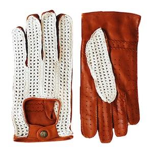 Hazelnut Al Mukalla Crochet Driving Gloves