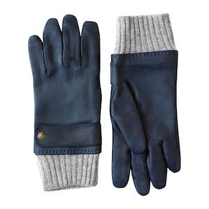 Blue Karthala Full Grain Lambskin Driving Gloves