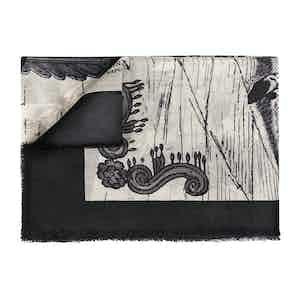 Black & White Pure Cashmere Scarf