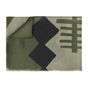 Military Green Pure Cashmere Scarf