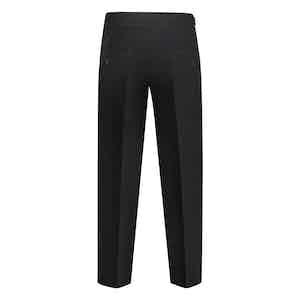 Black Wool Flannel Genny Trousers