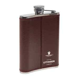 Bordeaux Capra 6oz. Leather Bound Hip Flask