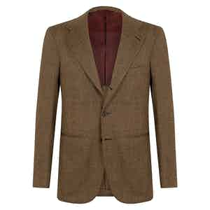 Tobacco Wool Partridge Ey Unstructured Single-Breasted Jacket