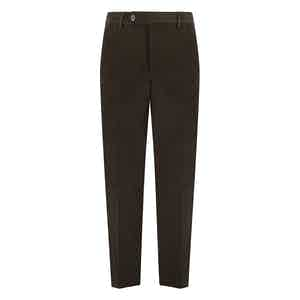 Green Fustagno Cotton Gabardine Trousers