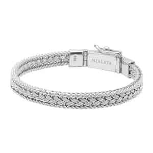 Silver Braided Chain Thin Bracelet