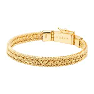 Gold Braided Chain Thin Bracelet