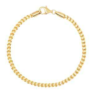Gold Square Chain Bracelet