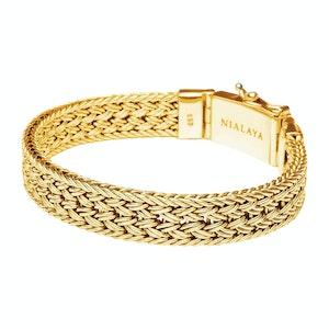 Gold Braided Chain Bracelet