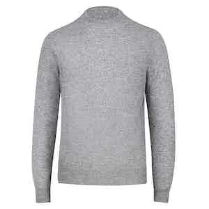 Light Grey Cashmere Crewneck Sweater