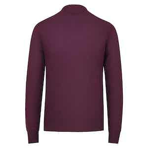 Burgundy Cashmere Crewneck Sweater