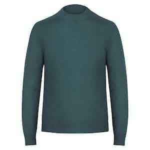 Green Cashmere Crewneck Sweater