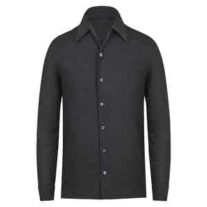 Grey Wool Knit Shirt