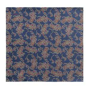 Dark Blue Wool Double-Sided Pocket Square