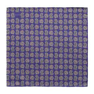Purple Wool Double-Sided Pocket Square