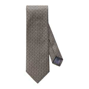 Dark Brown Silk Geometric Tie