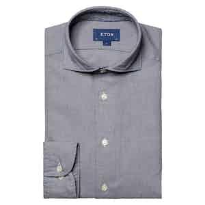 Navy Cotton Tencel™ Flannel Shirt