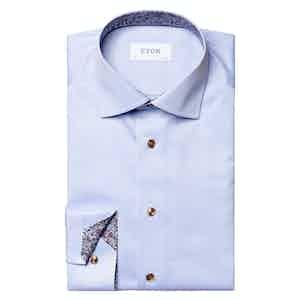 Light Blue Cotton Twill Signature Shirt