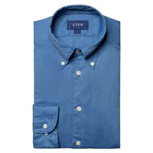 Blue Cotton Tencel™ Button Down Shirt