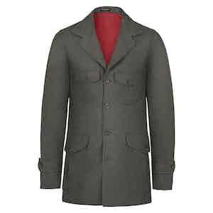Green Wool Flannel Sahariana