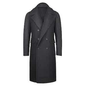 Grey Wool Herringbone Ulster Coat