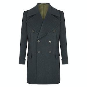 Dark Green Wool Bridgecoat
