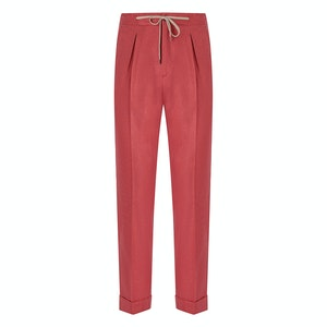 Red Flannel Drawstring Trousers