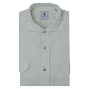 White Velvet Shirt
