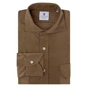Caramel Brown Velvet Shirt