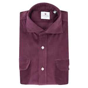 Burgundy Velvet Shirt