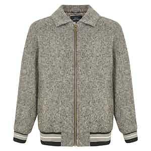 Charcoal Grey Wool Irish Donegal Arthur Jacket
