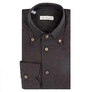 Brown Cotton Capri Shirt