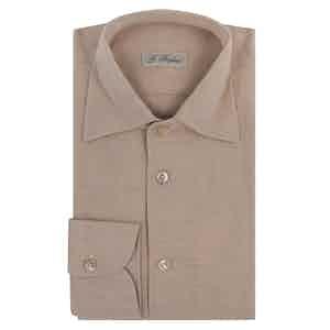 Beige Cotton Capri Shirt