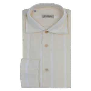Off-White Cotton Striped Shirt