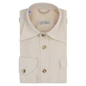 Biege Cotton Wester Shirt